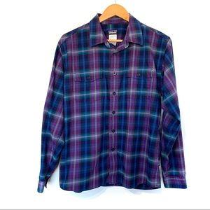 Patagonia Long-Sleeved Buckshot Shirt plaid cotton